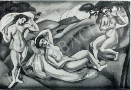 Márffy Ödön - Hármas akt, 1910