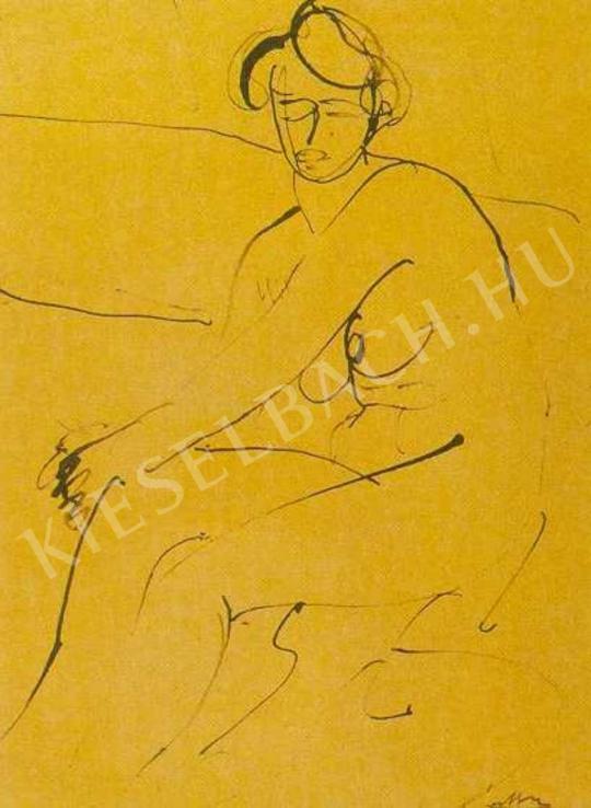 Márffy Ödön - Ülő női akt, 1908 körül festménye