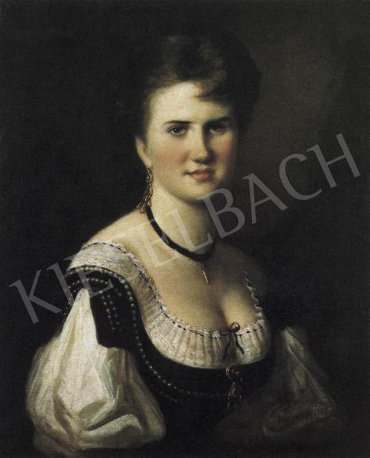 Munkácsy Mihály - Fiatal hölgy képmása   19. Aukció aukció / 178 tétel