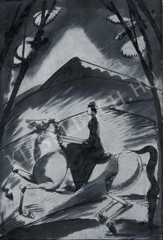 Márffy Ödön - Lovagló nő, 1913 festménye