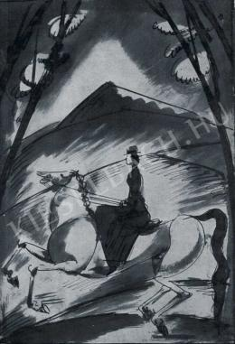 Márffy Ödön - Lovagló nő, 1913