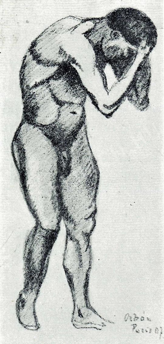 Orbán Dezső - Párizsi férfi akttanulmány, 1907 festménye