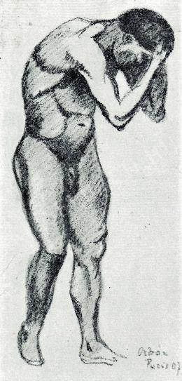 Orbán Dezső - Párizsi férfi akttanulmány, 1907