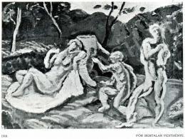 Pór Bertalan - Vázlat a Vágyódás tiszta szerelemre című kompozícióhoz, 1910