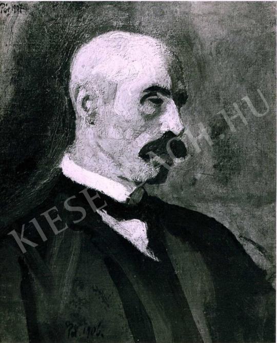 Pór Bertalan - Férfiportré, 1907 festménye