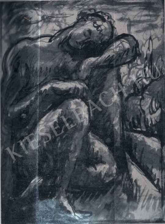 Pór Bertalan - Tanulmány, 1912 festménye
