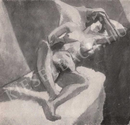 Tihanyi Lajos - Akttanulmány festménye