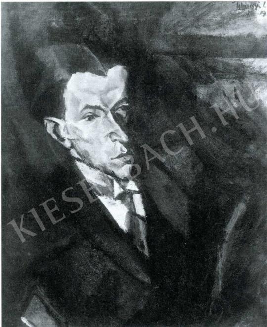Tihanyi Lajos - Szamuely Tibor-portré, 1913 festménye