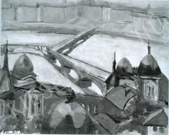 Tihanyi Lajos - Margit híd festménye