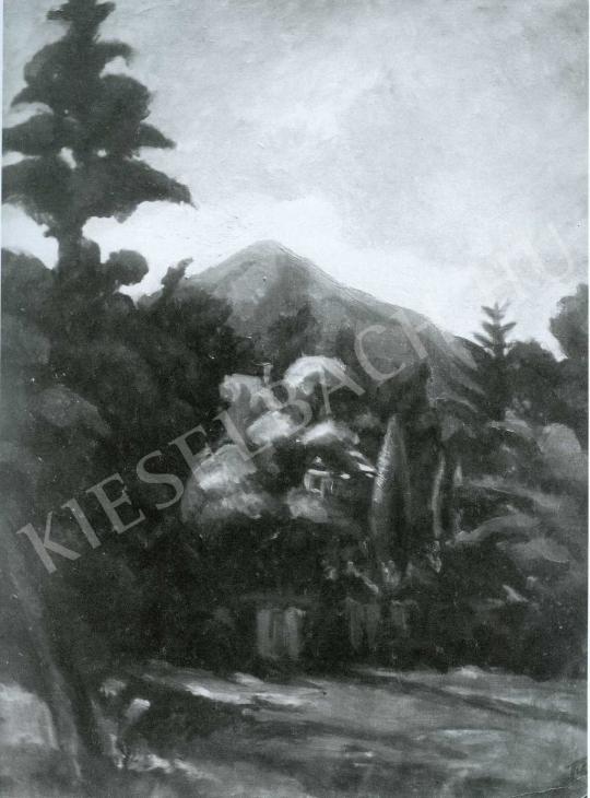 Tihanyi Lajos - Tájkép festménye