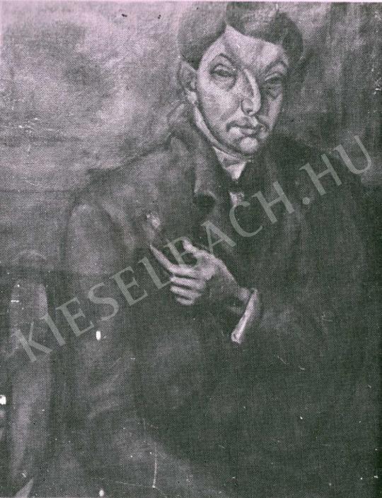 Tihanyi Lajos - Önarckép, 1911 körül festménye