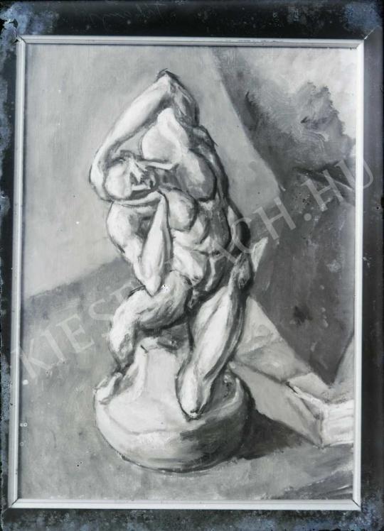 Tihanyi Lajos - Csendélet Michelangelo-szoborral, festménye