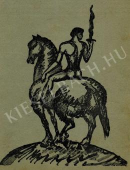 Kernstok Károly - Lángkardos lovas, 1911 előtt