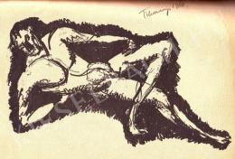 Tihanyi Lajos - Fekvő fiúakt (1910)