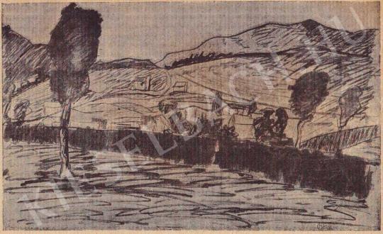 Orbán Dezső - Táj, 1911 elött festménye