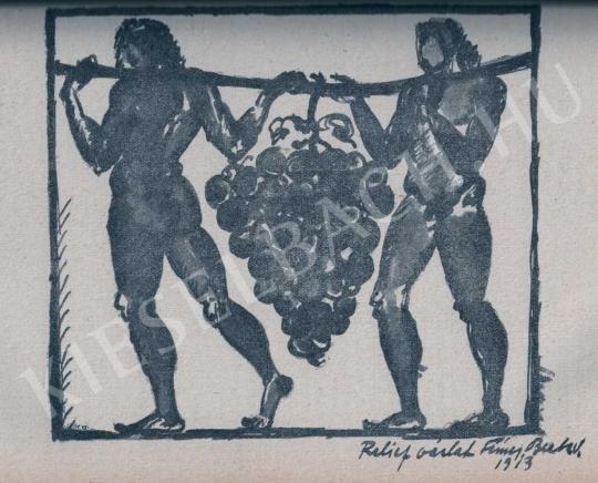 Fémes Beck Vilmos - Relief vázlat, 1913 festménye