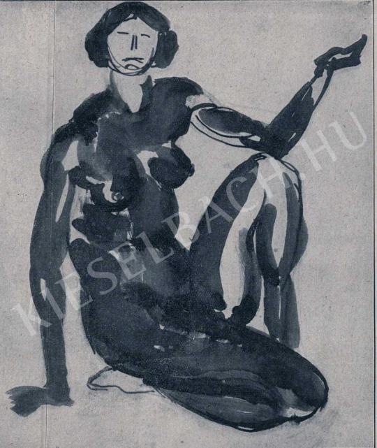 Fémes Beck Vilmos - Női akt, 1912 festménye