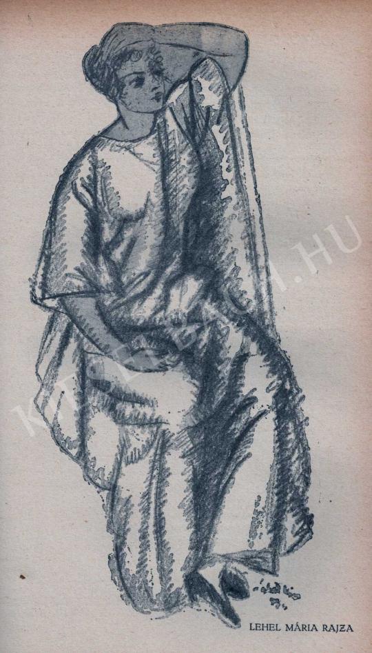Lehel Mária - Ülő nő, 1913 előtt festménye