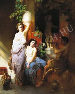 Molnár József - Pompeji nők,1875 körül