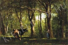 Munkácsy Mihály - Pásztorleány az erdőben, 1886