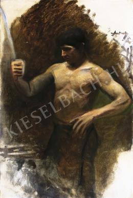 Mednyánszky László - Félakt (Fiú karddal), 1890-es évek