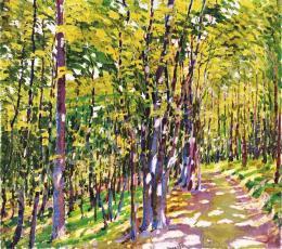 Barkász Lajos - Fények az erdőben, 1914