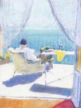 Berény Róbert - Taormina (Teraszon), 1913