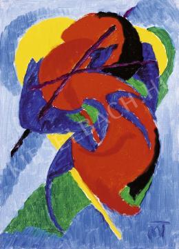 Mattis Teutsch János - Kompozíció (Vörös ló), 1922-23