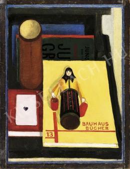 Dési Huber István - Csendélet Bauhaus-Könyvvel, 1930 körül
