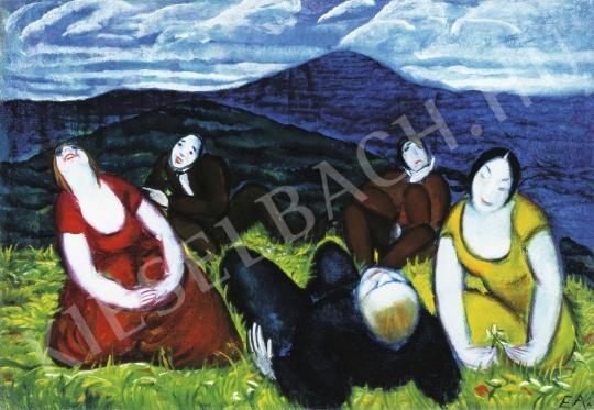 Endresz Alice - Piknik, 1930 körül festménye