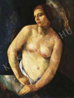 Fonó (Fleischer) Lajos - Ülő akt, 1920-as évek közepe