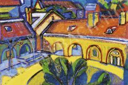 Jándi Dávid - Napsütötte belsőkert, 1920-as évek