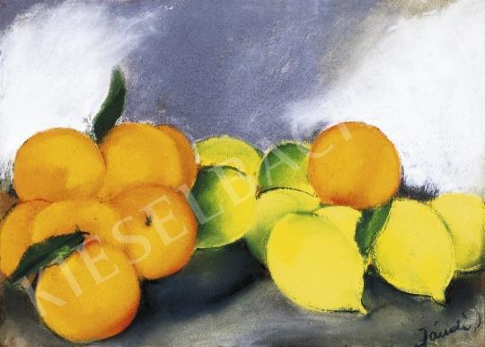 Jándi Dávid - Csendélet narancsokkal és citromokkal, 1930 körül festménye