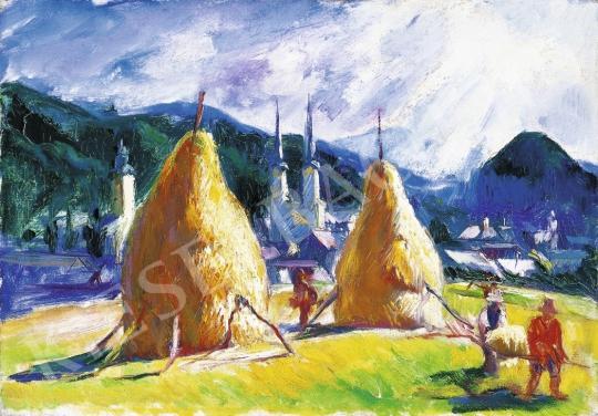 Boldizsár István - Felsőnagybányai táj festménye