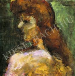 Czóbel Béla - Barna hajú lány, 1920-as évek