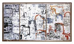 Ország Lili - Jeruzsálem falai (Vörös-kék), triptichon (1962)