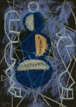 Marosán Gyula - Kék kompozíció (1950)