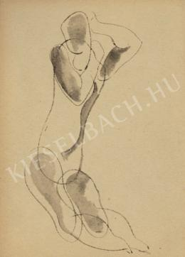 Kádár, Béla - Nude with Hands Up