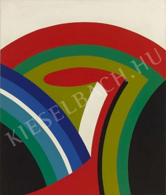 Nádler István - Acryl III., (Ívek), 1968 festménye