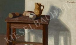 Barcsay Jenő - Csendélet sárga korsóval (Korsós csendélet), 1957