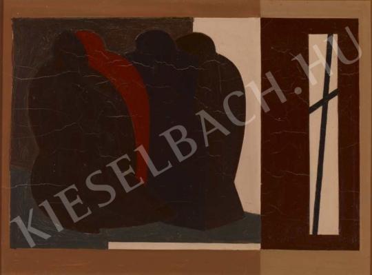 Barcsay Jenő - Elmúlás (A Gond című mű változata), 1975 festménye