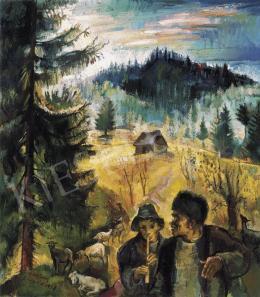 Nagy Imre - Erdélyi táj pásztorokkal