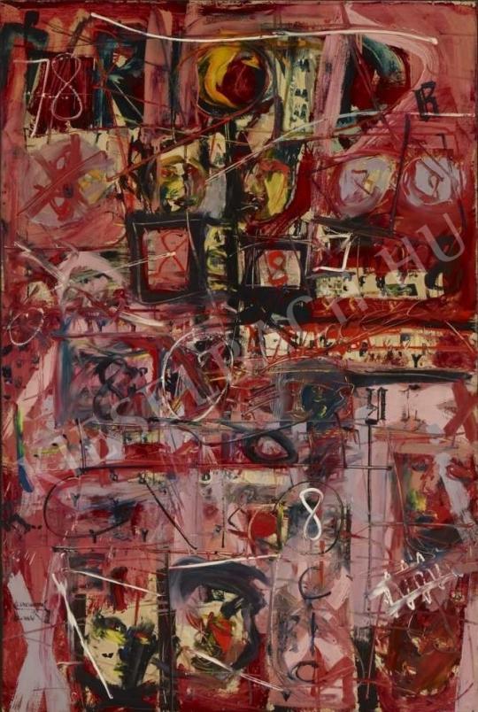 Tót Endre - Számok és betűk tánca festménye