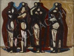Barcsay Jenő - Asszonyok (Kompozíció négy alakkal) (1961)