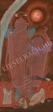Kondor Béla - A két kerub, 1972 festménye
