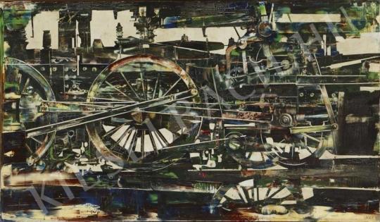 Lakner László - Planimetrikus mozdony, 1963 festménye