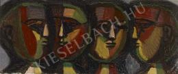 Barcsay Jenő - Fejek (Mozaik), 1961