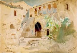 Mednyánszky László - Napfényes udvar (Taormina Sicília)