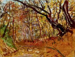 Mednyánszky László - Napfényes őszi erdő