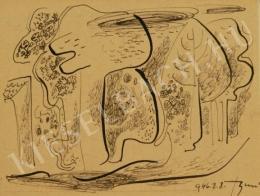 Bene, Géza - Trees at Szentendre (1946)